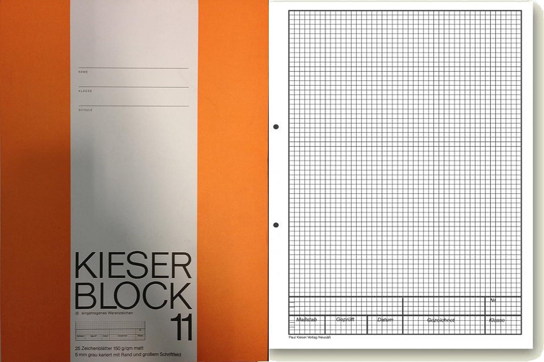 Bianco formato A4 1 Pezzo 50 fogli Brunnen 1042927 KIESER Blocco con Lineatur 21