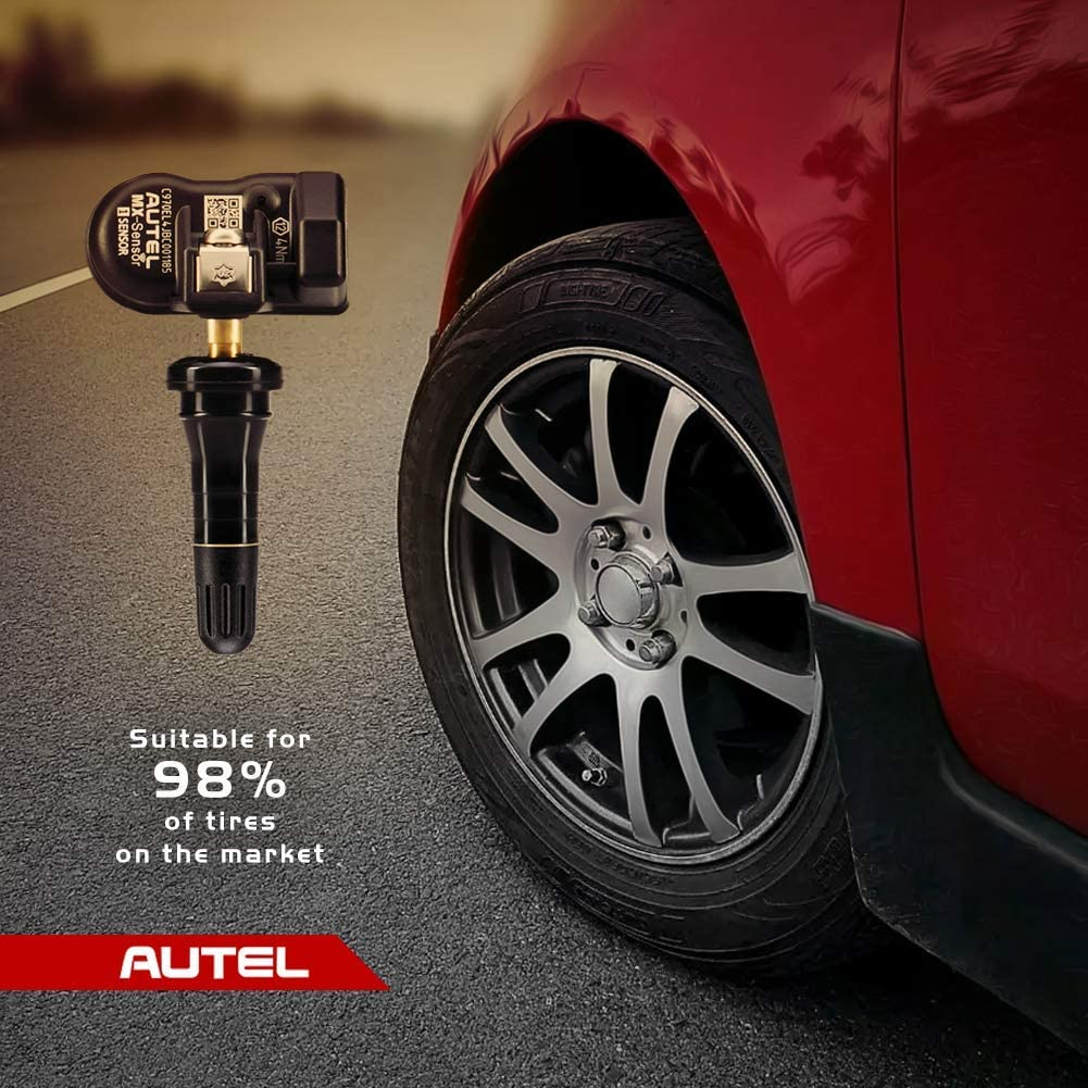 Clamp-in 100/% Cloneable TPMS Programmable Sensors Tire Pressure Monitoring System Autel MX-Sensor 2 in 1 315MHz + 433MHz Rubber Valves