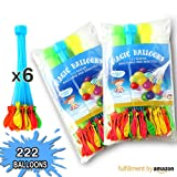 Water Balloons Filler Toys with Different Colors by Cosy Zone -Only Fill in 60 Seconds -3 Bunches 111Pcs or 6 Bunches 222Pcs for Choice (6 Bunches=222pcs)