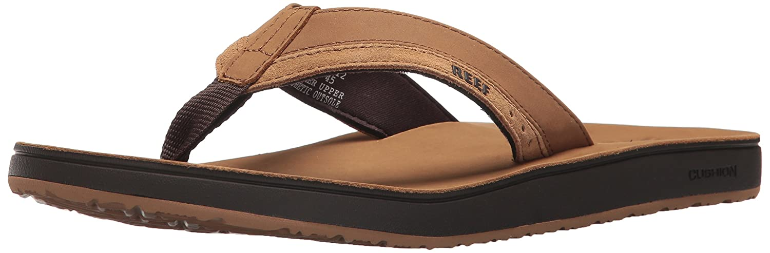 Reef Men's Leather Contoured Cushion Sandal