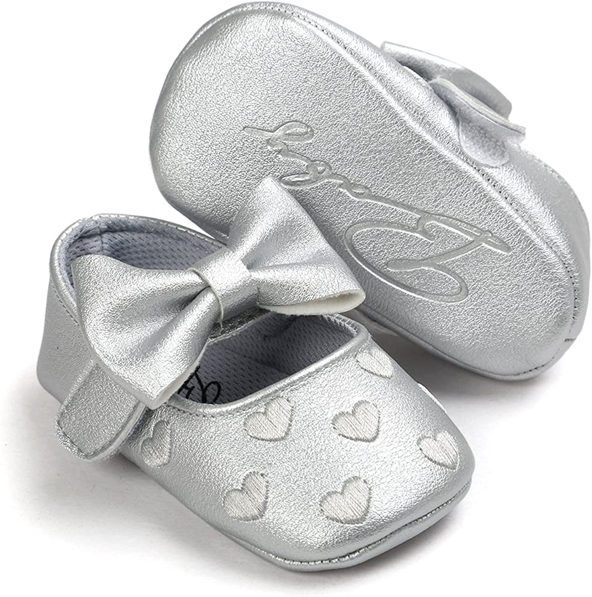 2pcs//Set Newborn Baby Girl Princess Mary Jane Shoes Toddler Infant Wedding Dress Flat Shoes with Free Headband