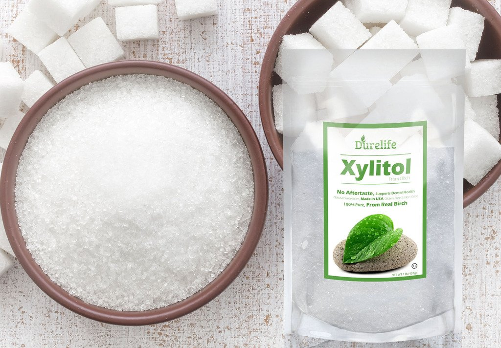 DureLife Birch XYLITOL Sugar Substitute 1 LB (16 OZ) Made From 100 % Pure Birch Xylitol In The USA , NON GMO - Gluten Free - Kosher , Packaged In A Resealable zipper lock Stand Up Pouch Bag by DureLife (Image #7)