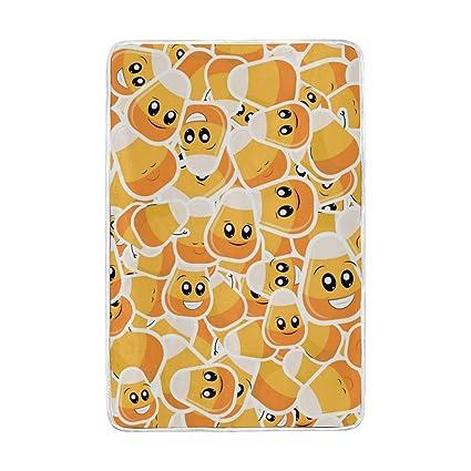 Amazon.com  U LIFE Cute Happy Emoji Pumpkin Soft Fleece Throw ... 079e6f4d01