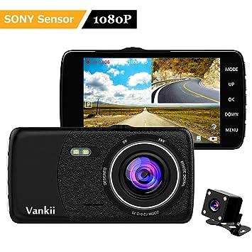 Vankii Cámara para Coche Full HD 1080P Dash Cam 170°Gran Ángulo, WDR Visión