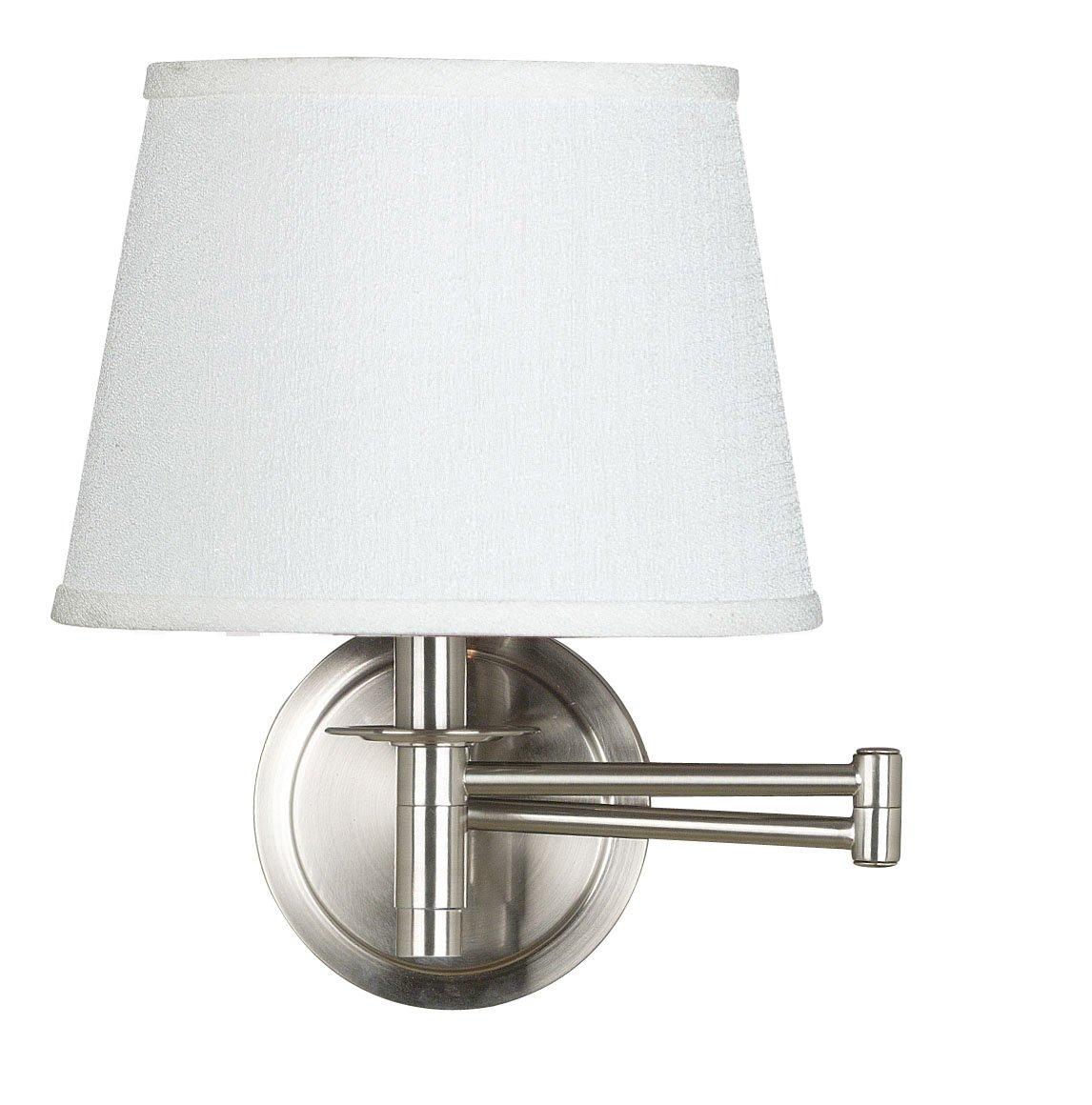 Kenroy Home 21011BS Sheppard Wall Swing Arm Lamp, Brushed Steel