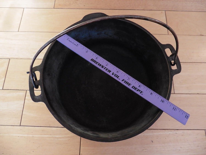 Wagner de 1891 de Original de hierro fundido 5 qt horno holandés con asa # 0 Vintage: Amazon.es: Hogar