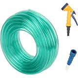 Truphe Garden water pipe, garden Hose Water Pipe, PVC Pipe - 0.5 inch / 10 Meters garden pipe with 5 Way Water Sprayer and Hose Connector