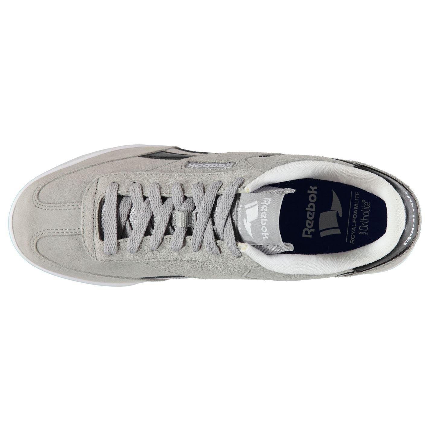 08235dc8d9db9 Reebok Rayen Boîte formateurs en daim pour homme Gris noir blanc Chaussures  Casual Sneakers
