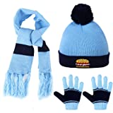 Vbiger Boys Girls Hat Scarf and Gloves Set Age 1-5 Years