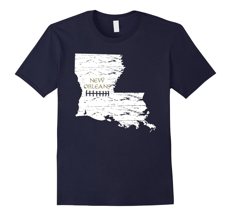New Orleans Louisiana NO LA Distressed Football T-Shirt-T-Shirt
