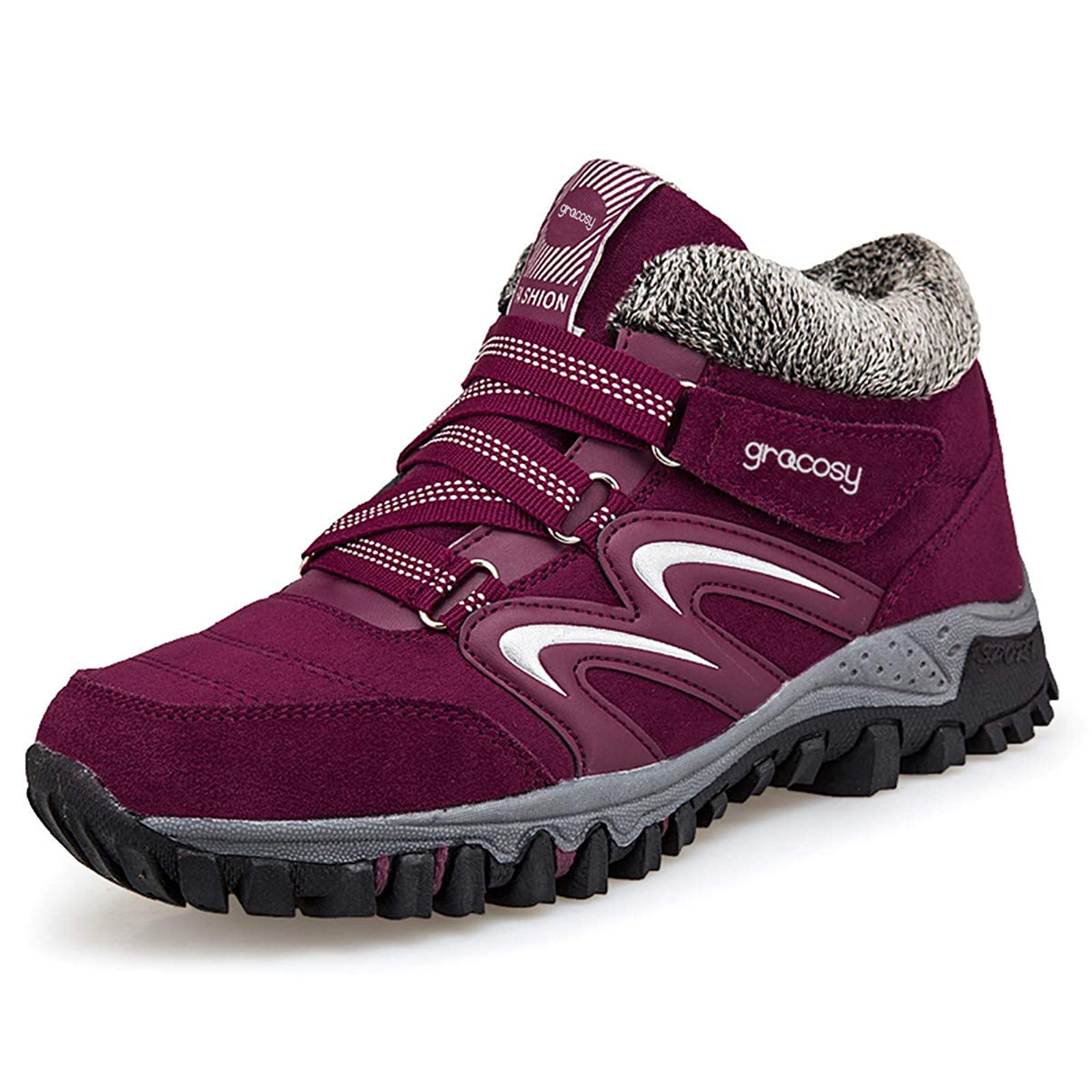 gracosy Women's Hiking Shoes High Top GRACOSYWERTY21416 - 3