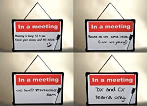 New 5 Options: Home Office Privacy Sign Do Not Disturb Door Hanger in a Meeting in a Session Be Right Back Office Home Clinic Therapists Music Class
