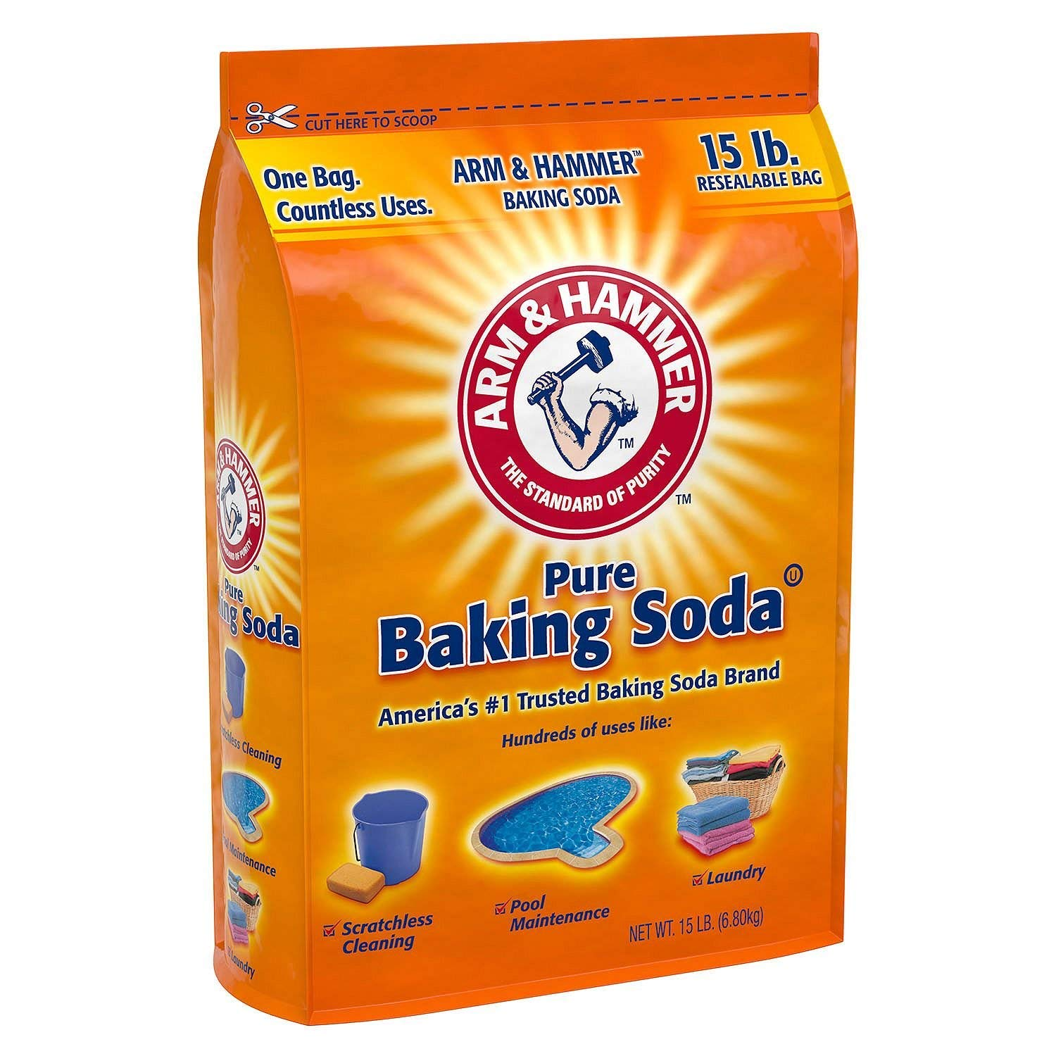 remove dark water stain using baking soda