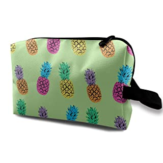 Triple Pineapple Pattern Multifunction Travel Makeup Bags Shaving Kit Buggy Bag Organizers With Zipper