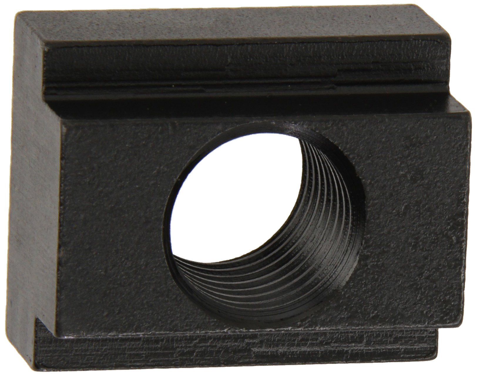 1018 Steel T-Slot Nut, Black Oxide Finish, Grade 6, Tapped Through, 1''-8 Threads, 1-1/8'' Height, 1-1/16'' Slot Depth, Made in US (Pack of 2) by Small Parts