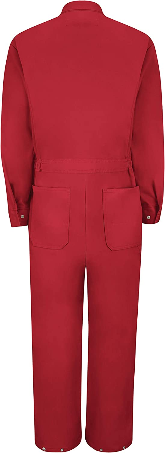 Red Kap Men's Zip-Front Cotton Coverall: Clothing