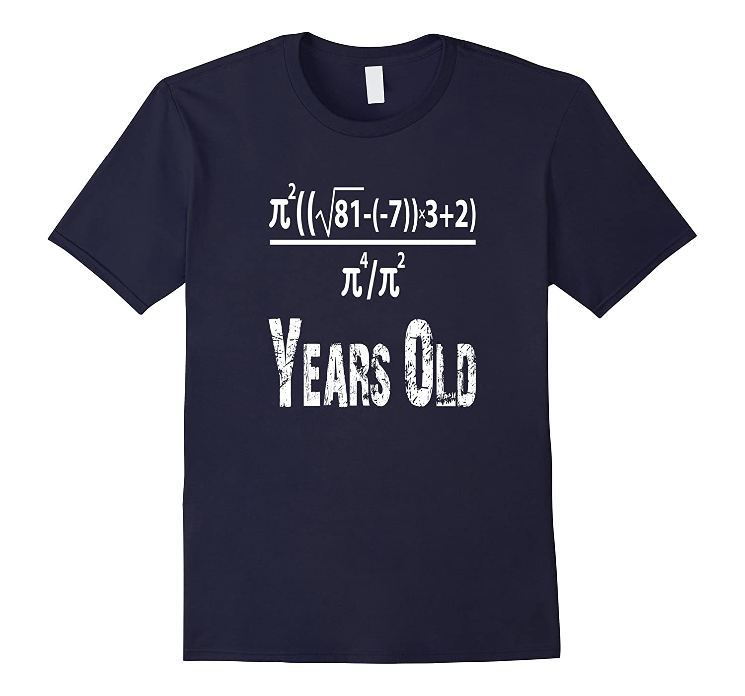 50 Years Old Algebra Equation Funny 50th Birthday Math T-Shi-CL