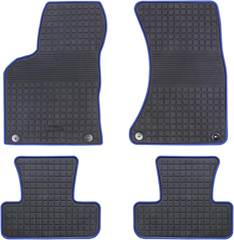 HD-Mart Car Floor Mat Rubber for Audi Q5 2017 2016 2015 2014 2013 2012 2011 2010 2009 Custom Fit Black//Navy Blue Auto Floor Mats All Weather Heavy Duty /& Odorless