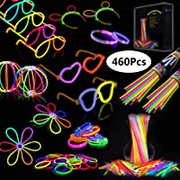 IREGRO Pulseras Luminosas 460 pcs de Fiesta 20cm