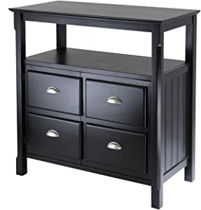 Winsome Wood Timber Buffet, Black