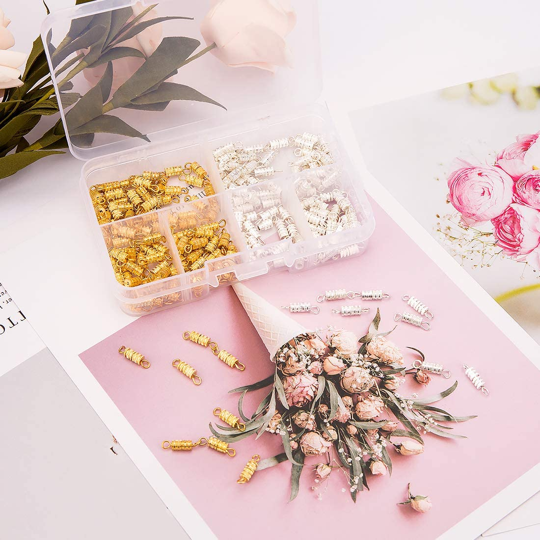 fermoire pour Bracelet et Collier pour la Fabrication de Bijoux zedela Fermoirs pour Bijoux 200 Pi/èces