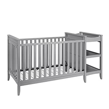 High Quality Baby Relax Emma 2 In 1 Crib And Changing Table Combo, Gray