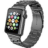 Apple Watch Armband 42mm, Swees Edelstahl Replacement Wrist Strap Band Uhrenarmband Schlaufe Smart Watch Armbänder mit Metallschließe für Apple Watch 42mm Series 3 / 2 / 1