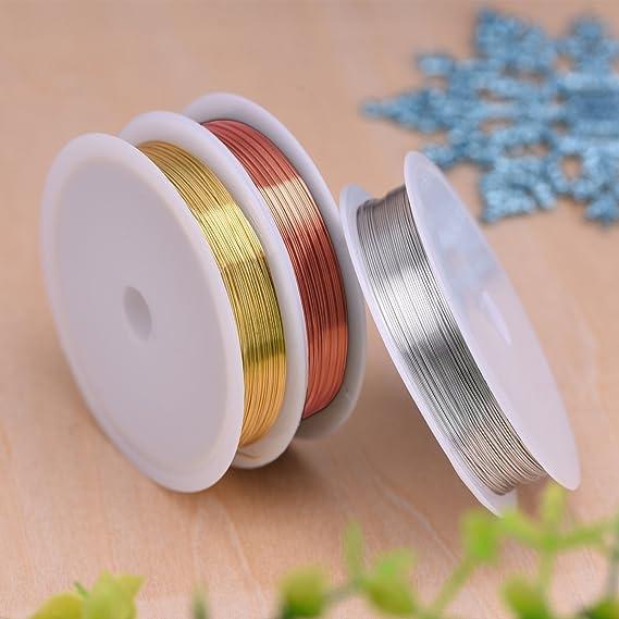 Pawaca Juego completo de herramientas de bordado con 100 hilos de colores dedal #1 enhebrador 3 tama/ños de aros ropa de Aida y agujas Set de regalo tijeras Est/ándar