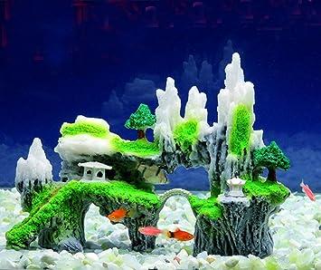 Efanr simulación Árbol de resina Rockery piedra Acuario Paisaje Decoración poliresina Fish Tank Decoración Adornos Decoración pescado Camarón Visor Hippie ...