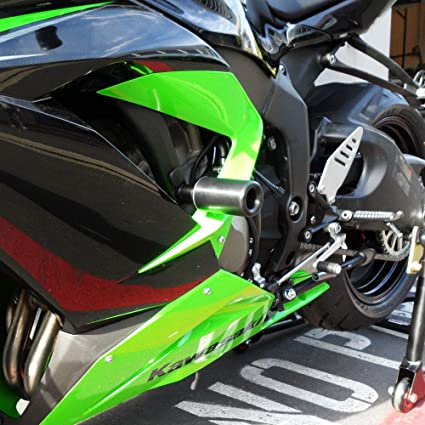 Shogun Kawasaki ZX6R ZX-6R ZX6RR ZX636 2013 2014 2015 2016 2017 2018 Black No Cut Frame Sliders - 750-4449 - MADE IN THE USA