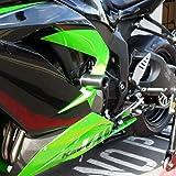 Blue OES Carbon Frame Sliders Swingarm Spools Fork Sliders 2017 2018 2019 Kawasaki Ninja 650