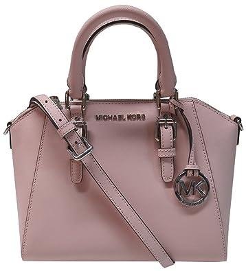 1622239fb615d Amazon.com  Michael Kors Ciara Saffiano Leather Medium Messenger Bag  Blossom  Shoes