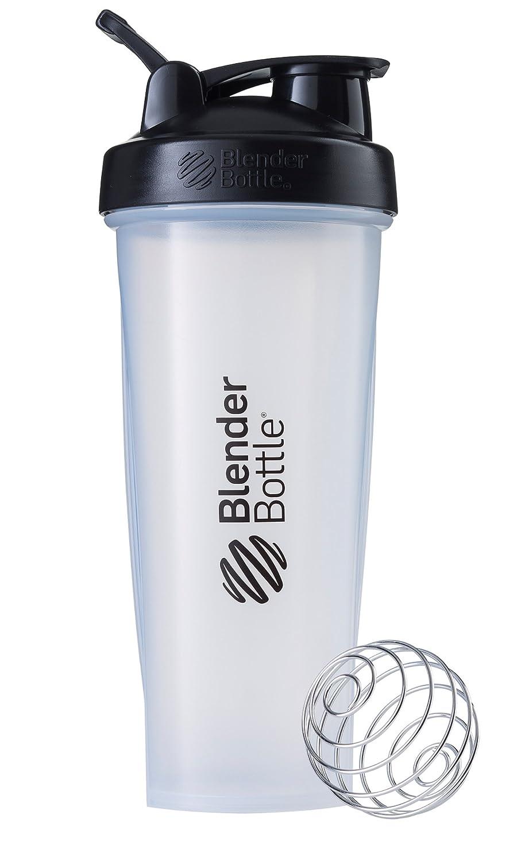 BlenderBottle C01635 Classic Loop Top Shaker Bottle, 32-Ounce, Clear Black