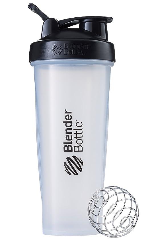 BlenderBottle Classic Loop Top Shaker Bottle, Clear/Black/Black Loop, 32-Ounce Loop Top