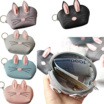 Shopaholic Cute Rabbit Design Mini Keychain Bag Hanging Wallet ...
