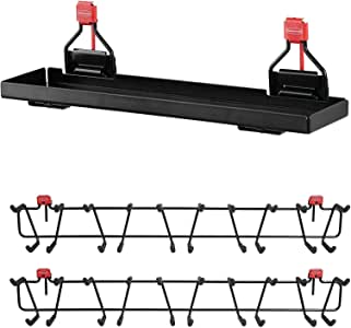 "Rubbermaid Metal Shed Shelf & 50lb Capacity 34"" Storage Shed Tool Rack (2-pack)"