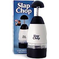 Fatiador original Slap Chop com lâminas de aço inoxidável   Cortador de vegetais   Mini Cortador para saladas…