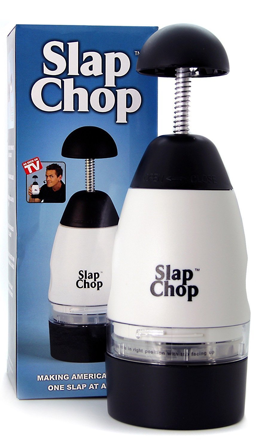 Original Slap Chop Slicer with Stainless Steel Blades | Vegetable Chopper Gadget | Mini Chopper for Salads | Kitchen Accessory by Slap Chop