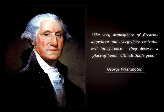 Wall Quote George Washington The Very Atmosphere Of Firearms Any