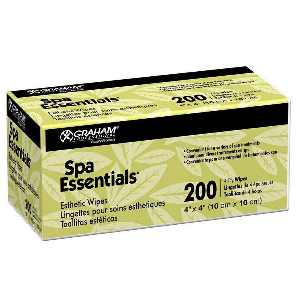 Graham Spa Essentials Nonwoven Esthetic Wipes 4 X 4, 200 Count
