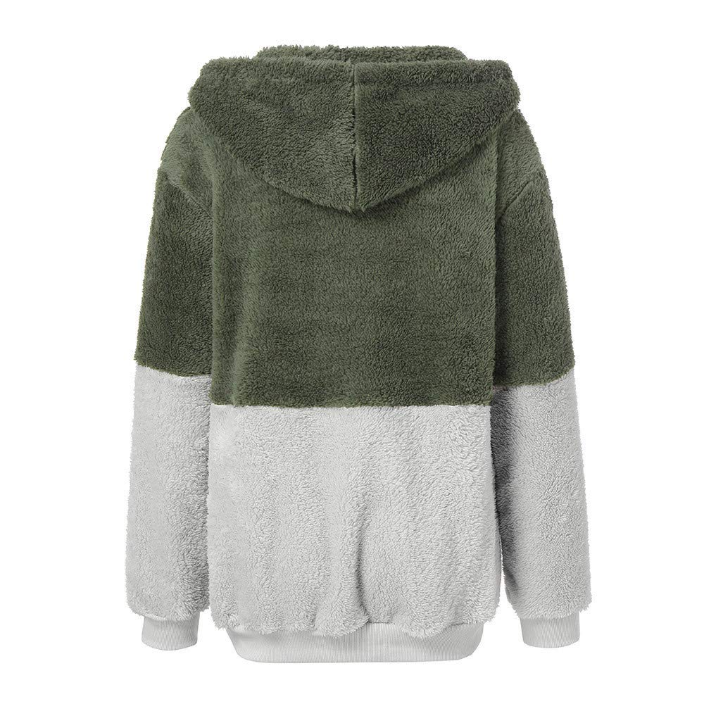 FEDULK Clearance Sweatshirt Women Hooded Winter Warm Pullover Coat Jumper Outwear