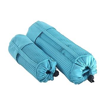 Deconovo Toallas Microfibra Toalla de Baño y Deporte Suave Absorbente 1 Pieza 160x80cm y 1 Pieza 100x50cm Azul Cielo: Amazon.es: Hogar