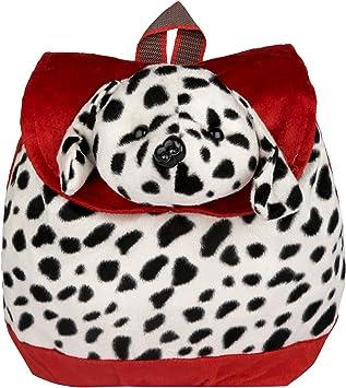 New Rakshak Dog Cartoon School Bag for Kids/Baby/Boys/Girls (Red and White) by The Lovely Toys