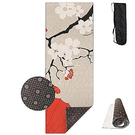 Sakura - Esterilla de Yoga y Paraguas para Yoga, Pilates y ...