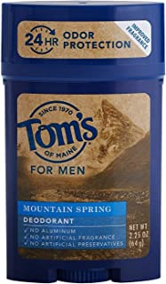 product image for Tom's of Maine Men's Long Lasting Deodorant, Mountain Spring, 2.25 Ounce (Pack of 4)