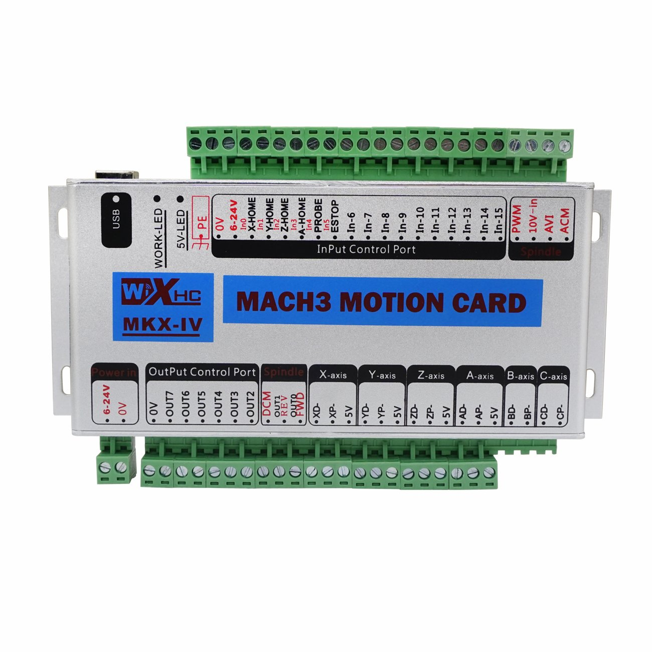FISTERS Mach3 USB 4 Axis CNC Motion Control Card Breakout Board 400KHz Support Windows 7 by Fisters
