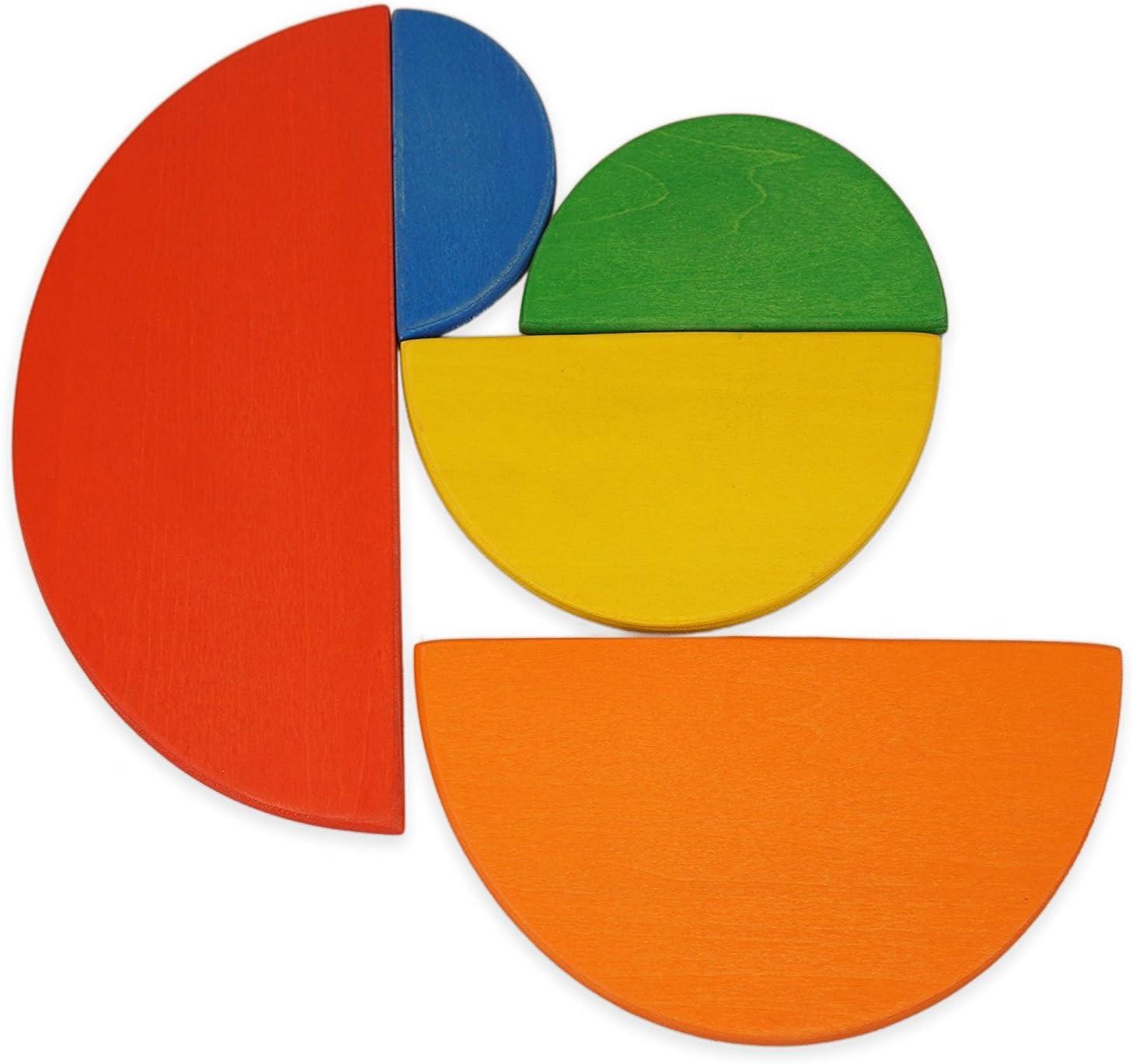 Montessori Waldorfschule Lernkl/ötze Regenbogen 12 Piece Rainbow