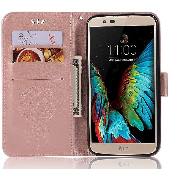 a0297d207 Amazon.com  LG K10 Pro Leather Case
