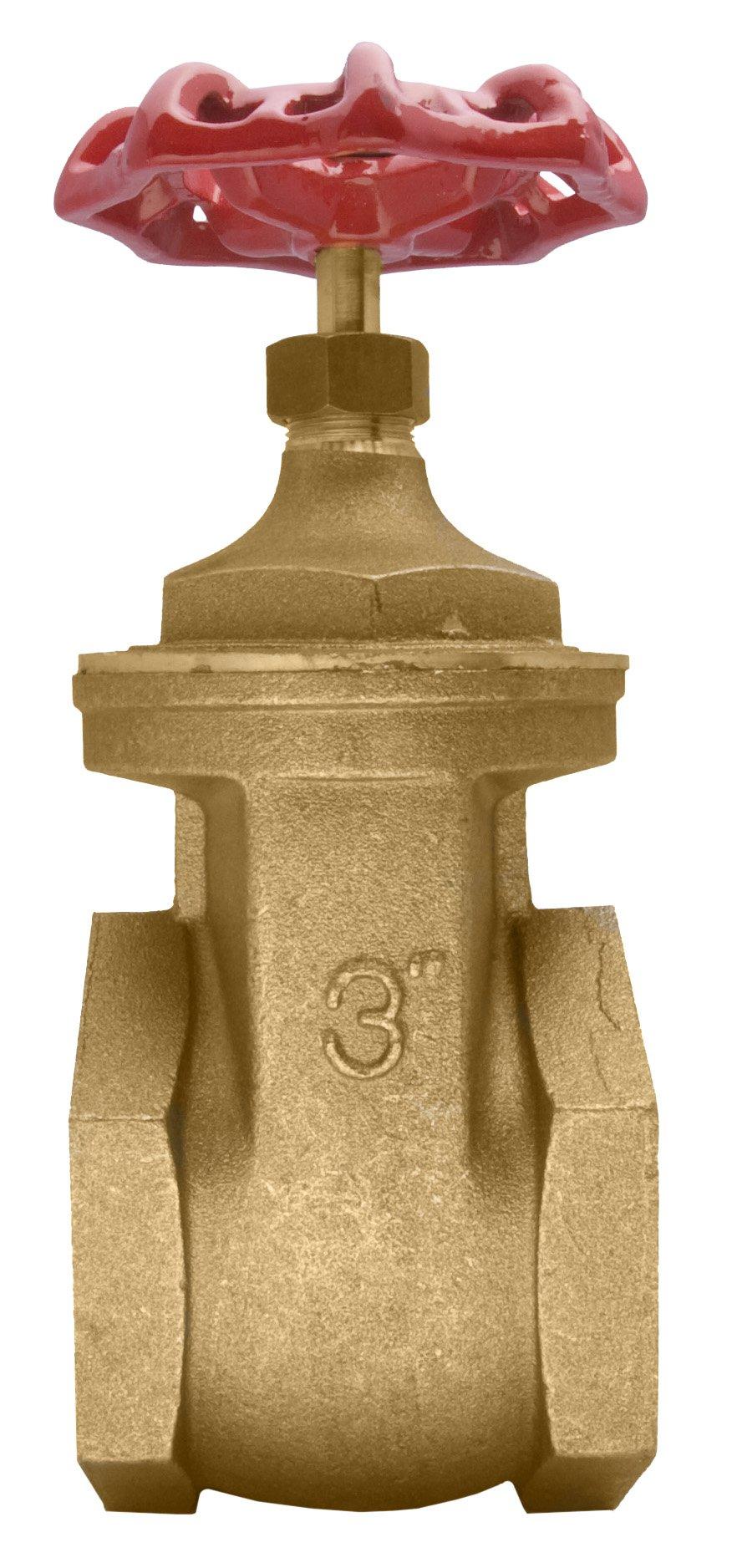 3'' Brass Gate Valve - 200WOG, FxF NPT