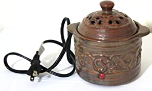 Elegant Expressions Aromatherapy Accessory Electric Simmering Pot with AC Power Cord (Earth Color)
